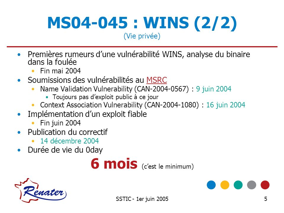 MS04-045 : WINS (2/2) (Vie privée)
