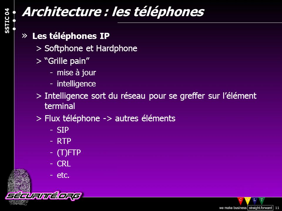 Architecture : les téléphones