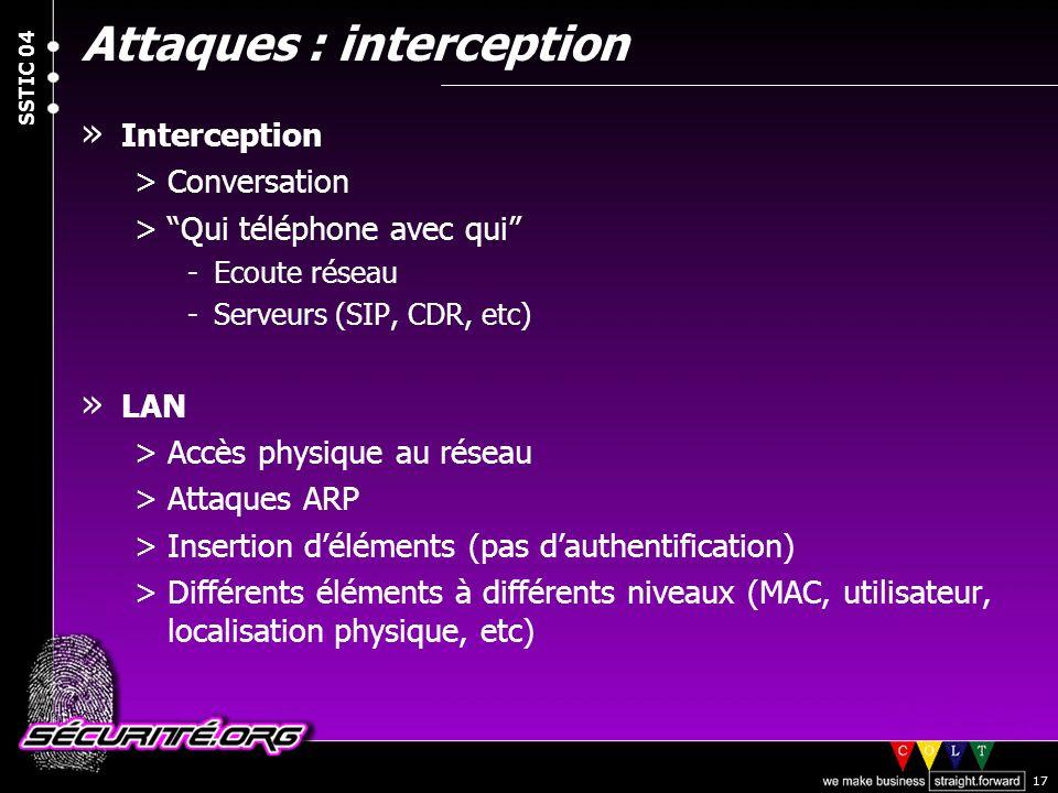Attaques : interception