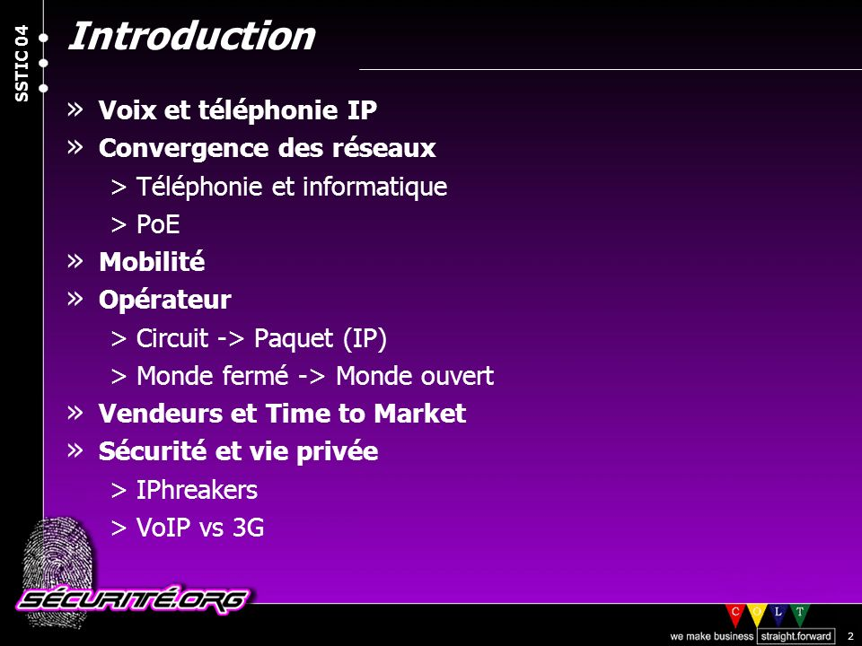 Introduction Voix et téléphonie IP Convergence des réseaux