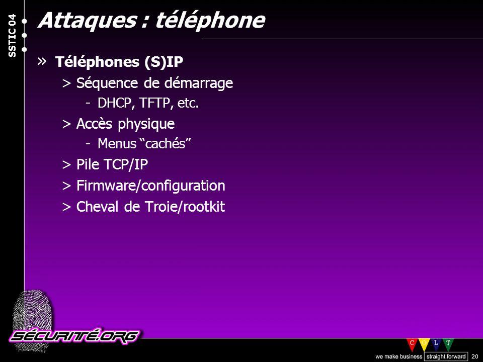 Attaques : téléphone Téléphones (S)IP Séquence de démarrage