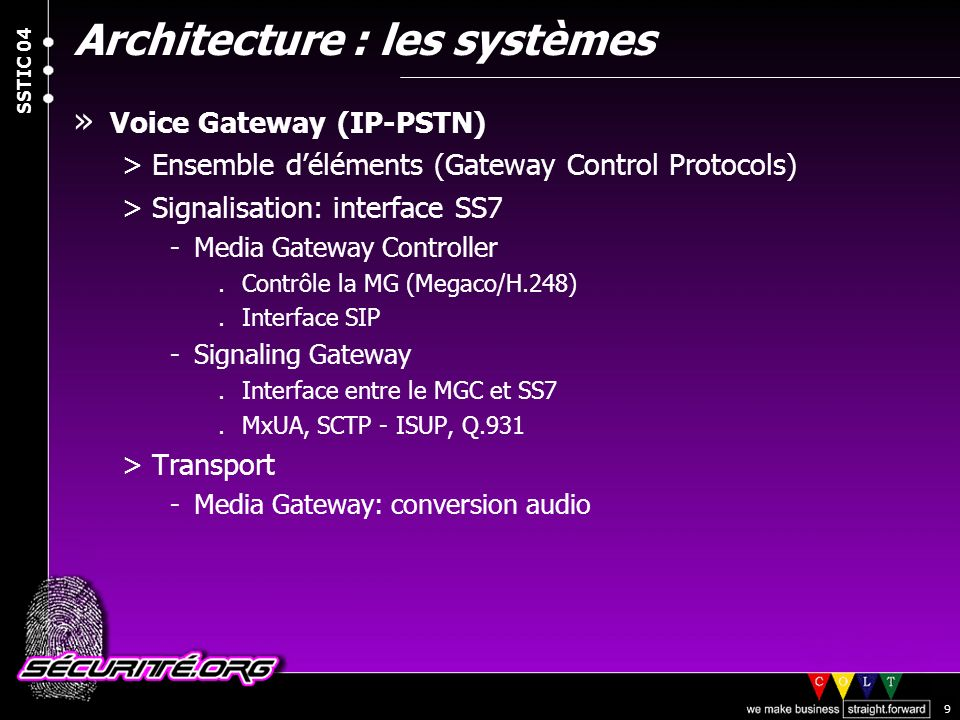 Architecture : les systèmes