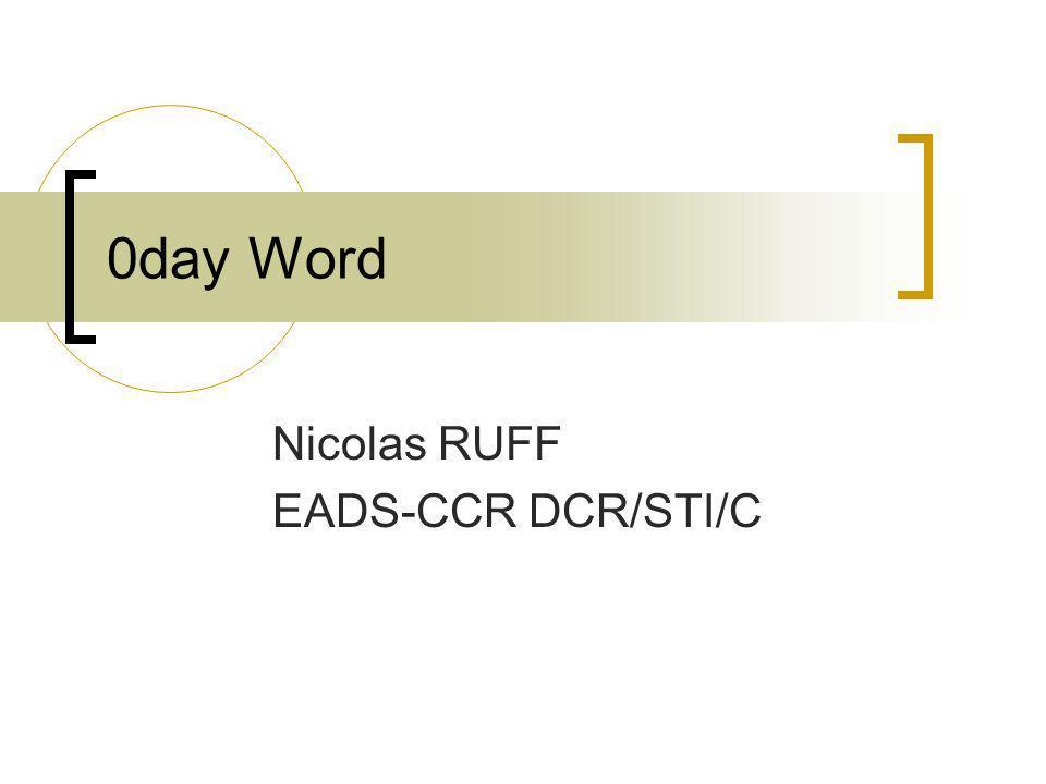Nicolas RUFF EADS-CCR DCR/STI/C