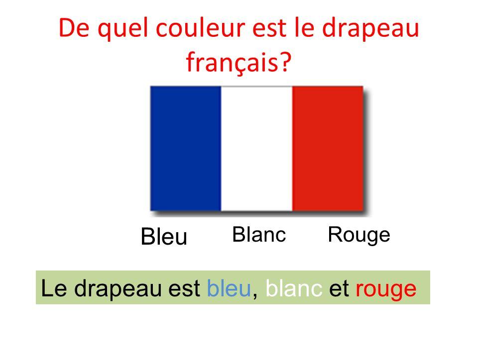 De quel couleur est le drapeau français