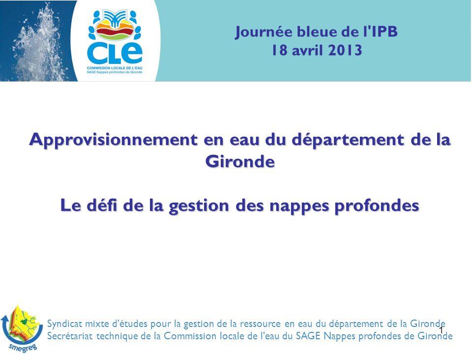 Approvisionnement en eau du département de la Gironde