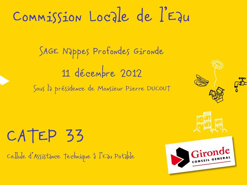 CATEP 33 Commission Locale de l'Eau 11 décembre 2012