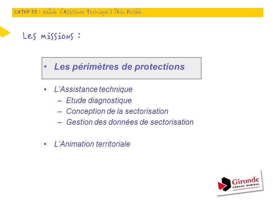 Les missions : Les périmètres de protections L'Assistance technique