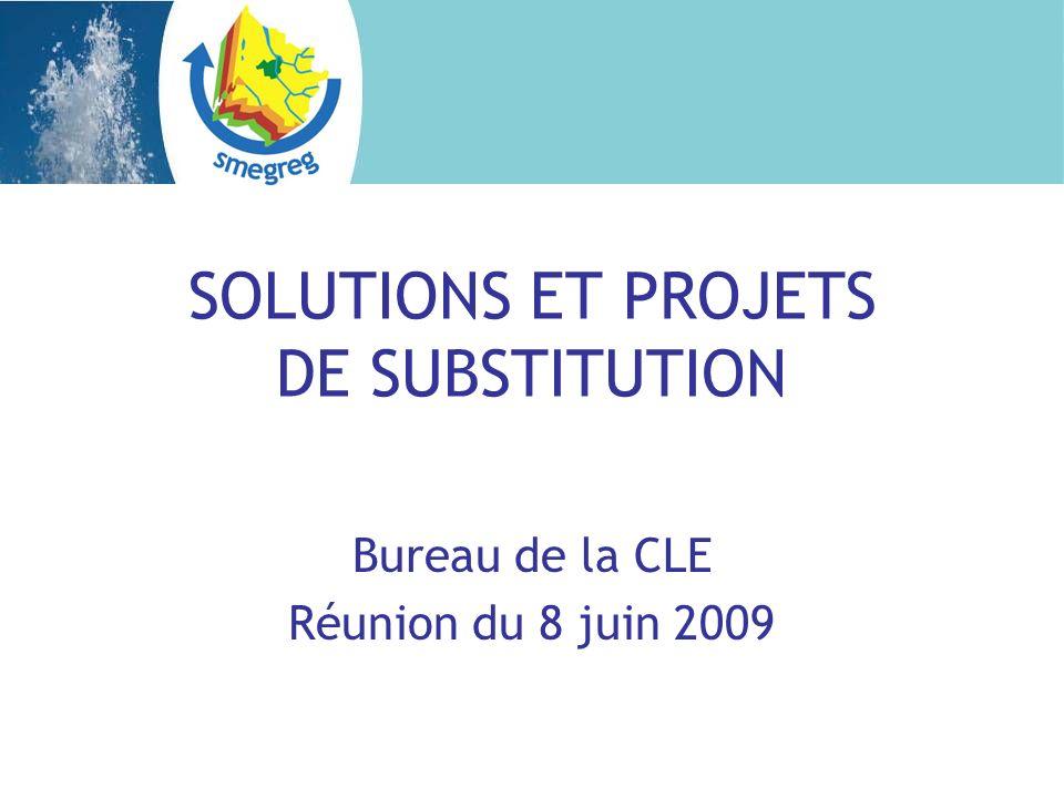 SOLUTIONS ET PROJETS DE SUBSTITUTION