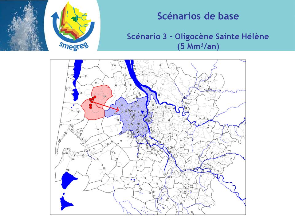 Scénario 3 – Oligocène Sainte Hélène