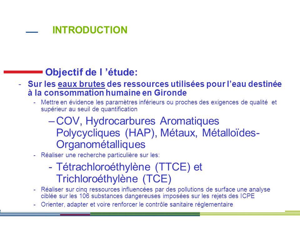 Tétrachloroéthylène (TTCE) et Trichloroéthylène (TCE)