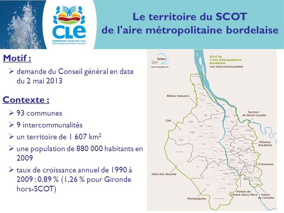 Le territoire du SCOT de l aire métropolitaine bordelaise