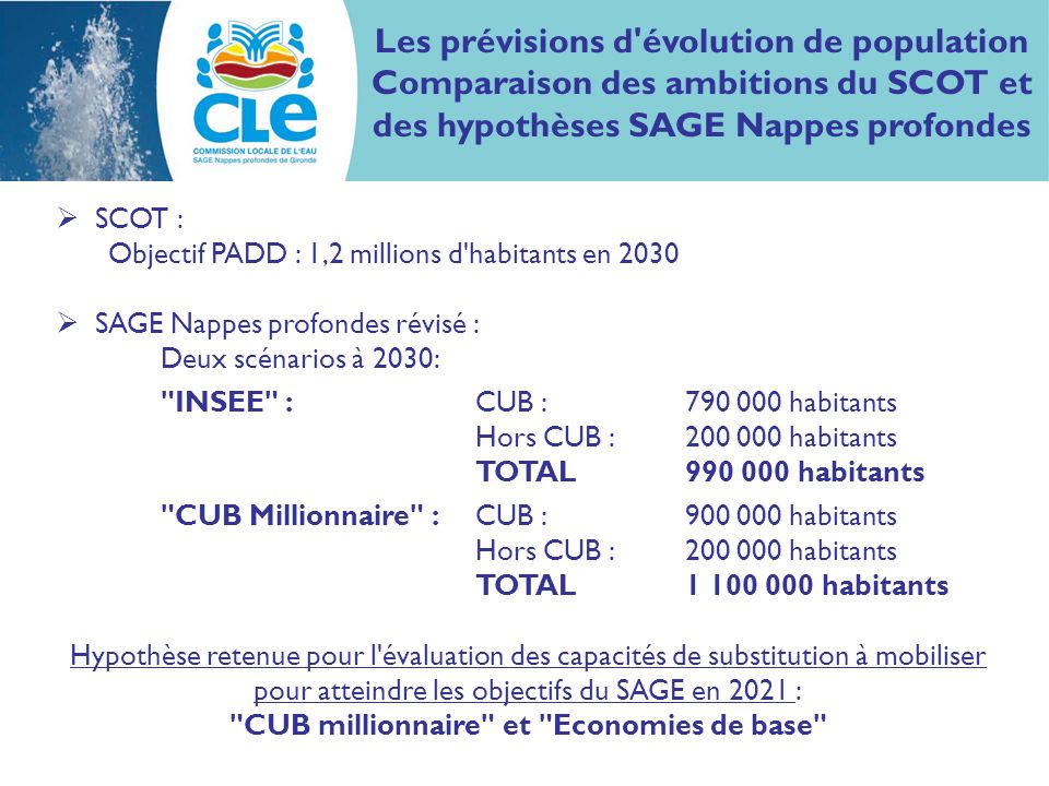 Les prévisions d évolution de population