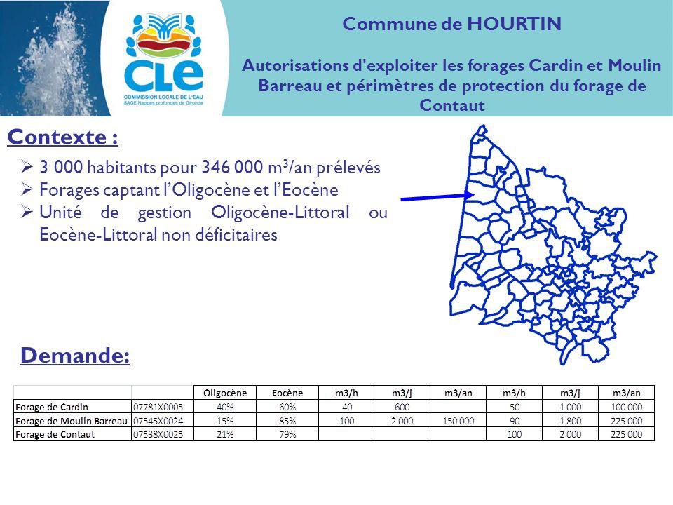 Contexte : Demande: Commune de HOURTIN
