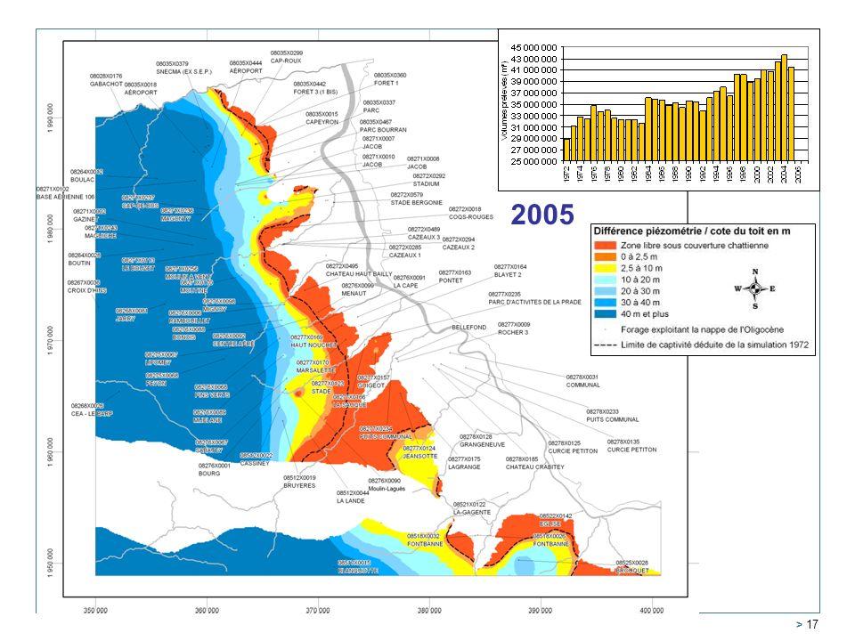2000 2005 1995 1990 1980 1985 Service Géologique Régional Aquitaine