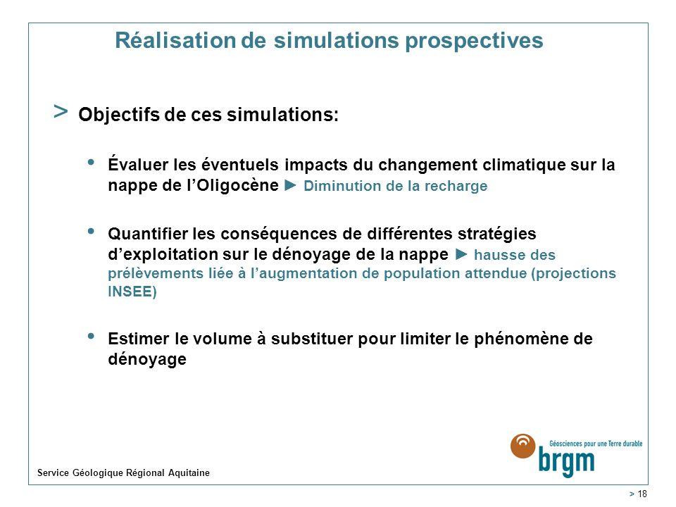 Réalisation de simulations prospectives
