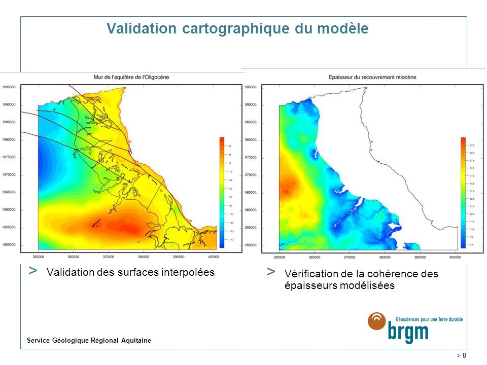 Validation cartographique du modèle