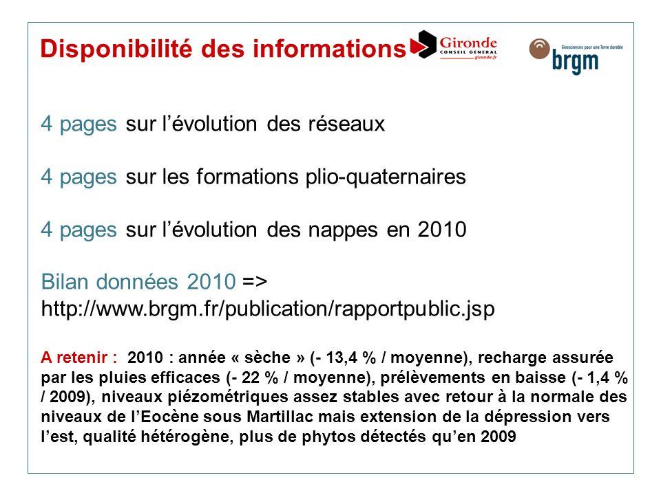 Disponibilité des informations