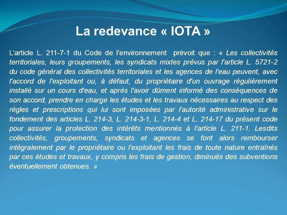 La redevance « IOTA »