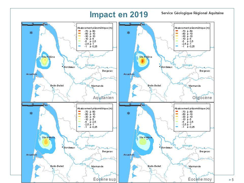 Impact en 2019 Aquitanien Oligocène Éocène sup Éocène moy