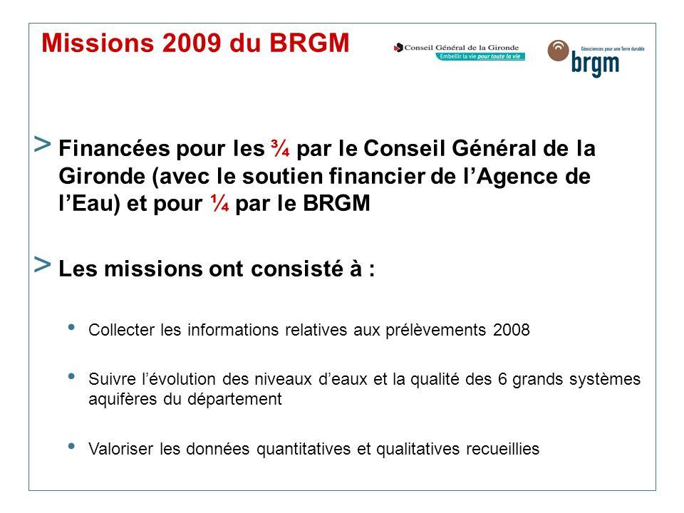 Missions 2009 du BRGM