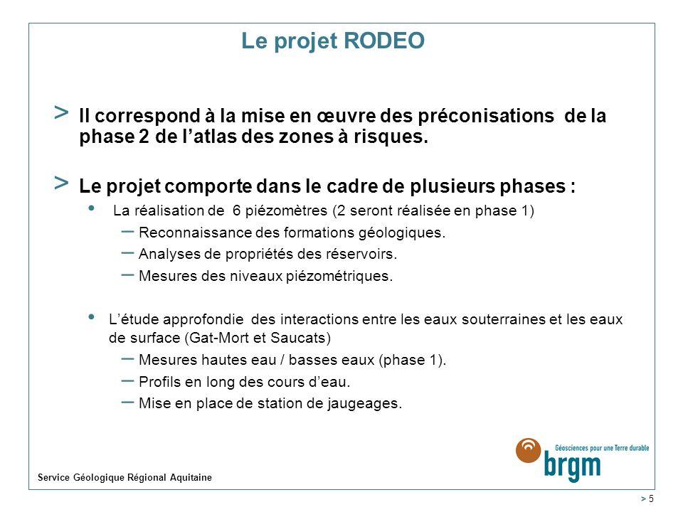 Le projet RODEO Il correspond à la mise en œuvre des préconisations de la phase 2 de l'atlas des zones à risques.