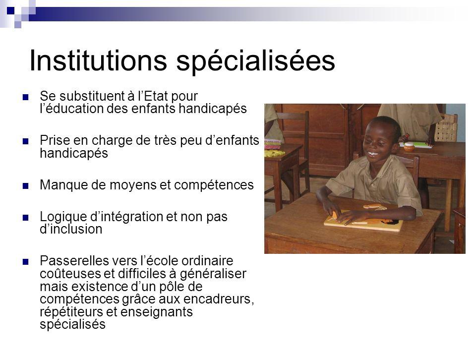 Institutions spécialisées