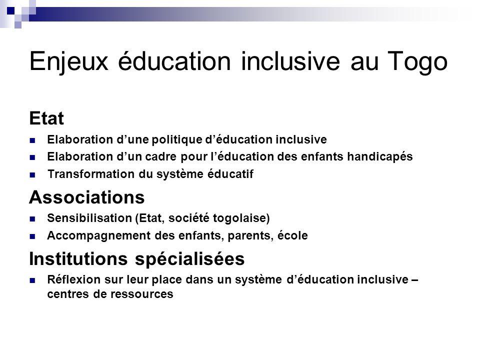 Enjeux éducation inclusive au Togo