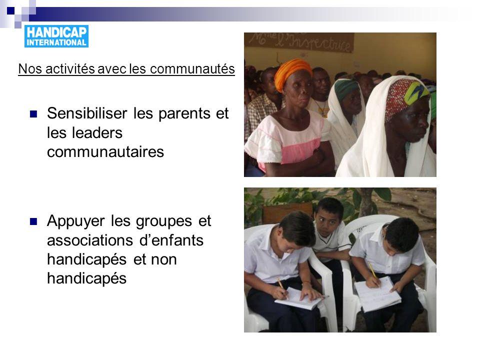 Nos activités avec les communautés