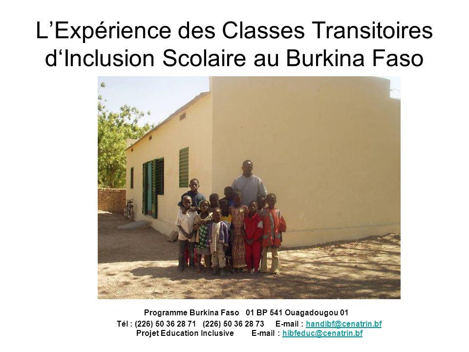 L'Expérience des Classes Transitoires d'Inclusion Scolaire au Burkina Faso