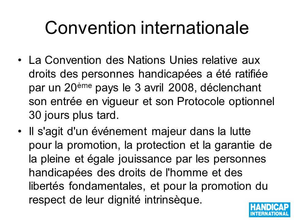 Convention internationale