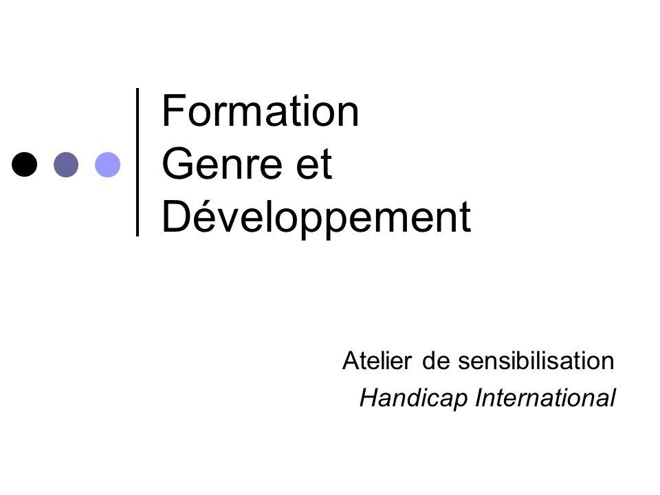 Formation Genre et Développement