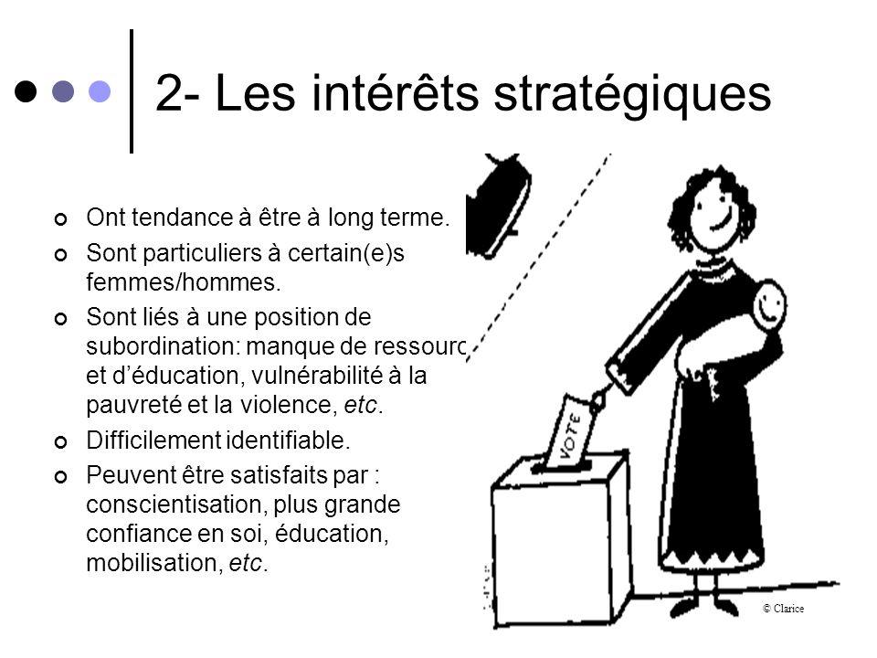2- Les intérêts stratégiques