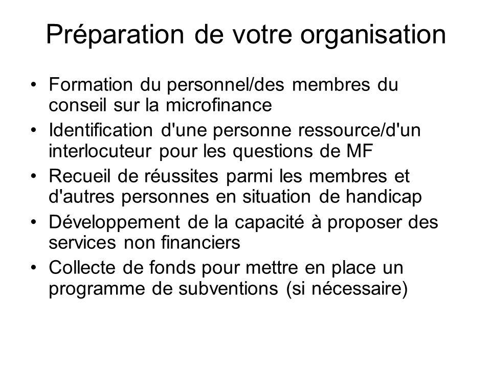 Préparation de votre organisation