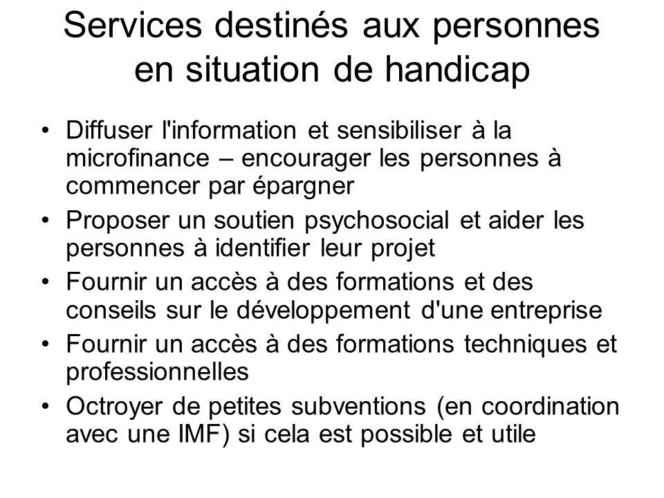 Services destinés aux personnes en situation de handicap