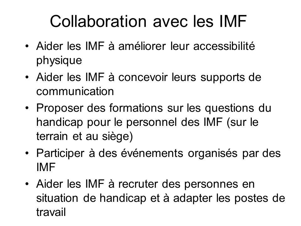 Collaboration avec les IMF