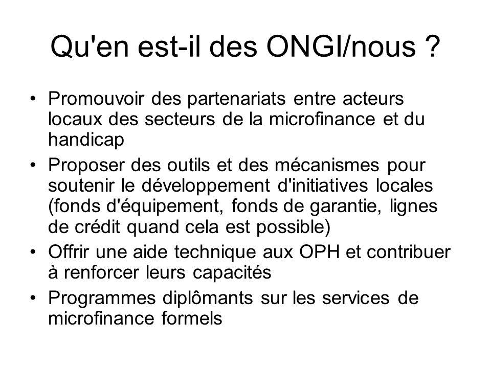Qu en est-il des ONGI/nous