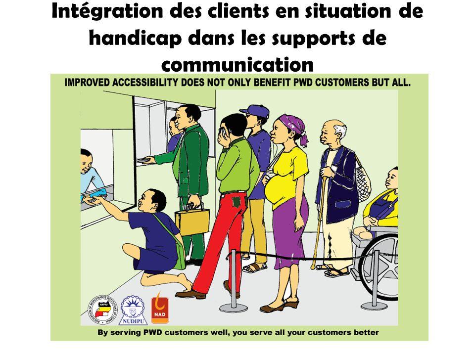Intégration des clients en situation de handicap dans les supports de communication