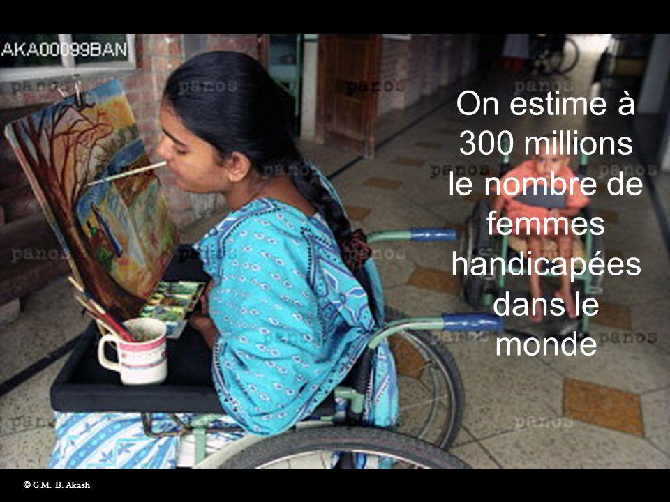 On estime à 300 millions le nombre de femmes handicapées dans le monde