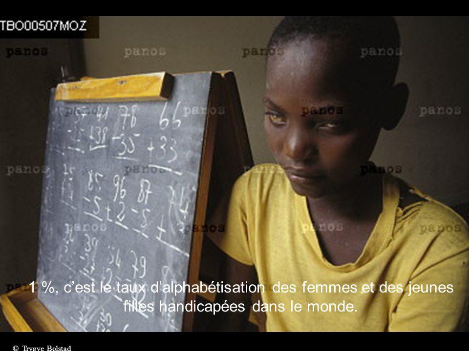 1 %, c'est le taux d'alphabétisation des femmes et des jeunes filles handicapées dans le monde.