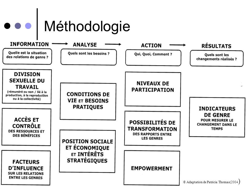 Méthodologie © Adaptation de Patricia Thomas(2004)