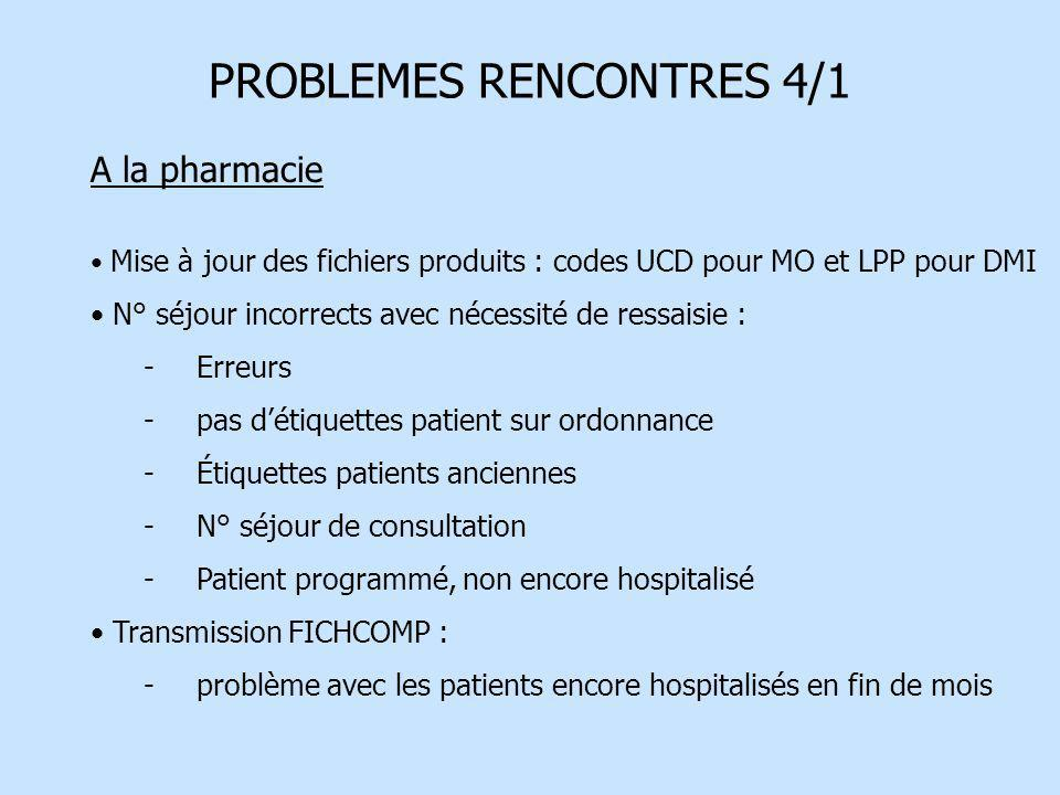 PROBLEMES RENCONTRES 4/1
