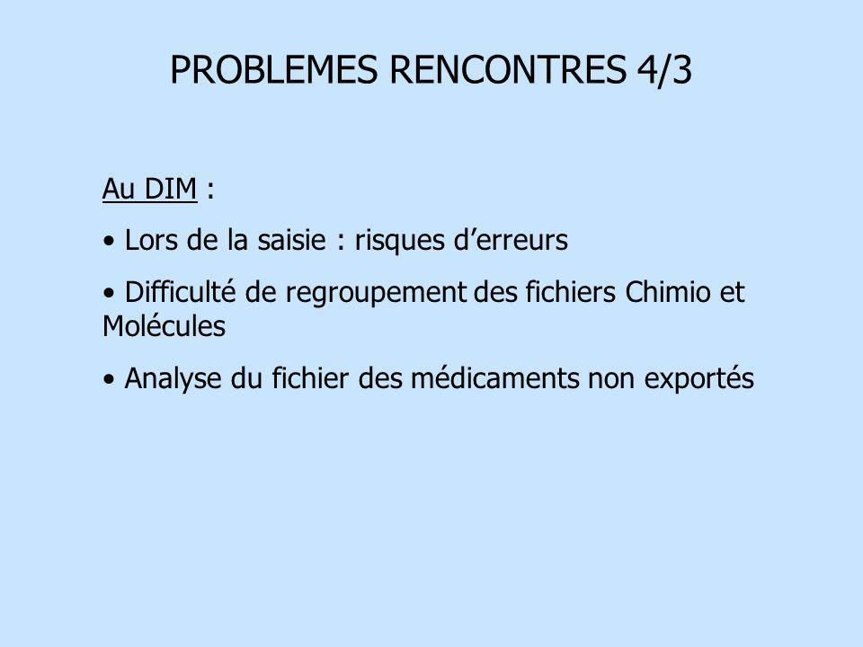 PROBLEMES RENCONTRES 4/3