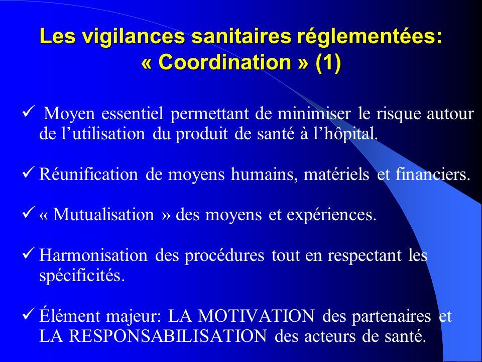 Les vigilances sanitaires réglementées: « Coordination » (1)