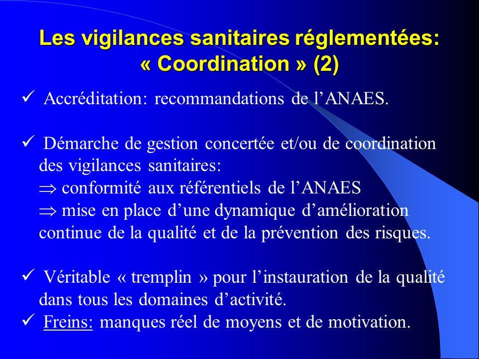 Les vigilances sanitaires réglementées: « Coordination » (2)