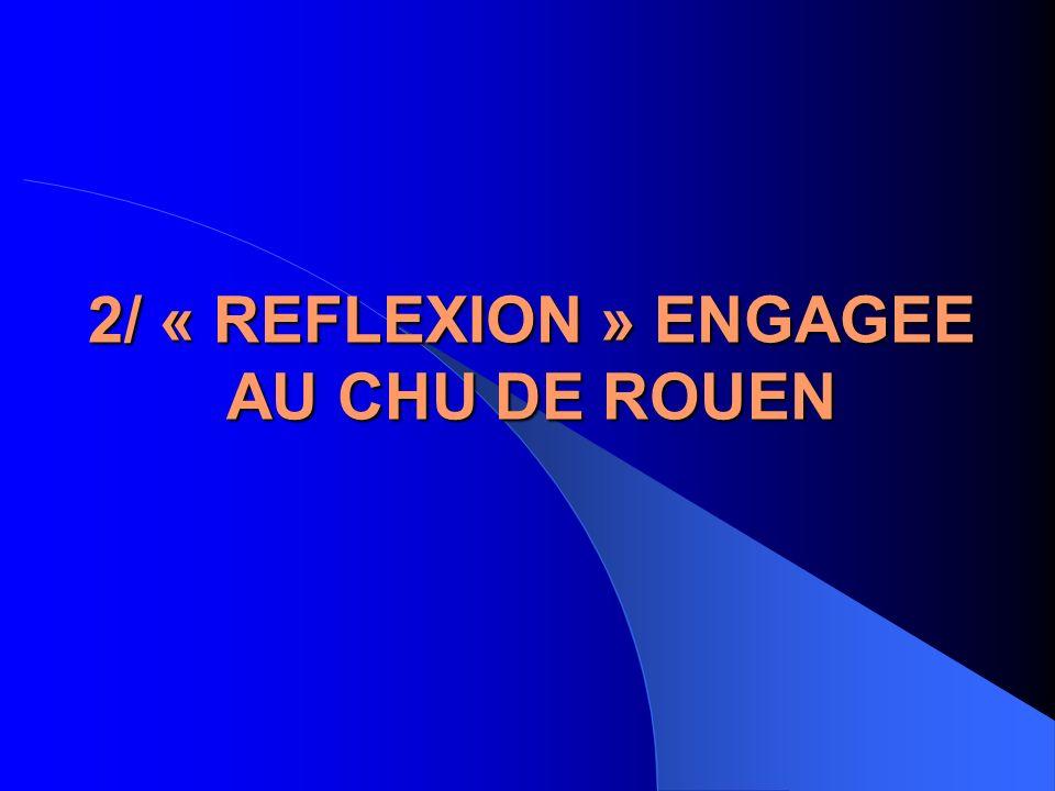 2/ « REFLEXION » ENGAGEE AU CHU DE ROUEN