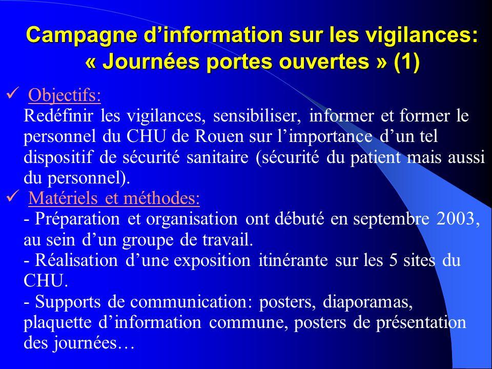 Campagne d'information sur les vigilances: « Journées portes ouvertes » (1)