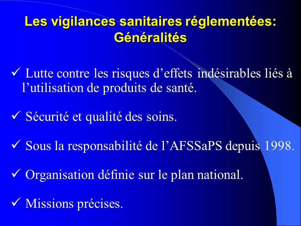 Les vigilances sanitaires réglementées: Généralités