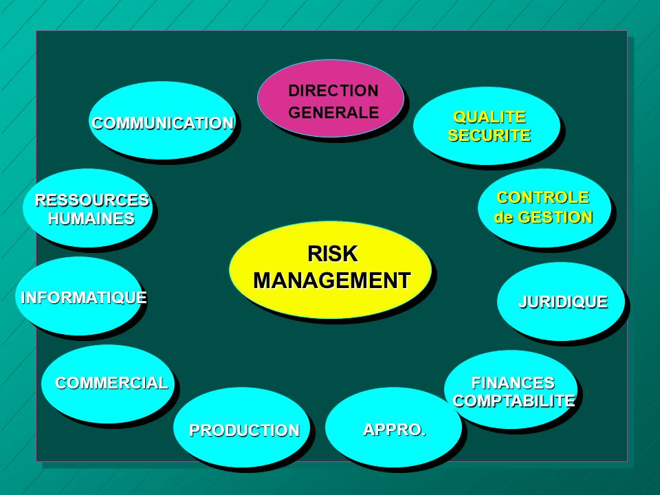 RISK MANAGEMENT DIRECTION GENERALE QUALITE SECURITE COMMUNICATION