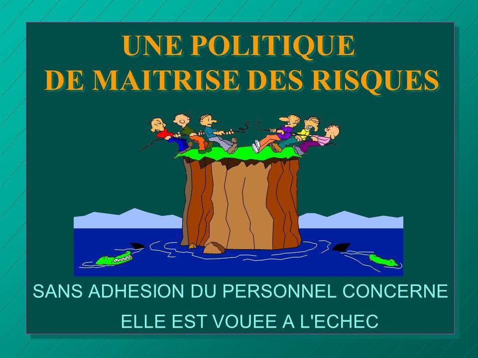 UNE POLITIQUE DE MAITRISE DES RISQUES
