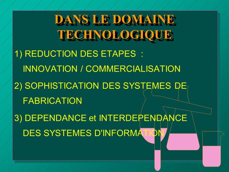 DANS LE DOMAINE TECHNOLOGIQUE